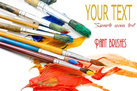 Paints and brushes Stock Photo - 16956060