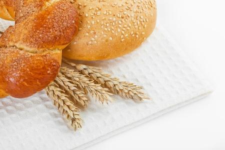 fresh bread on the white background Stock Photo - 18034070