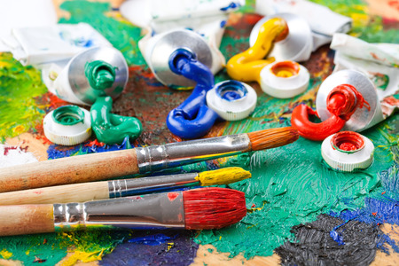 Paints and brushes Stock Photo - 30286220