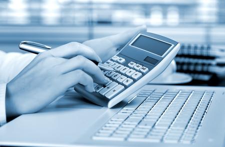 contabilidad financiera cuentas: Contabilidad empresarial Foto de archivo