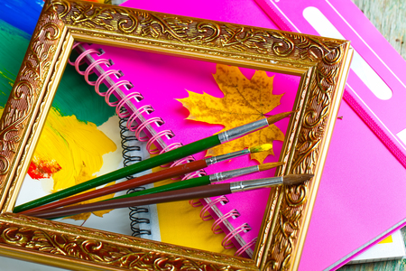 educational tools: Paints and brushes