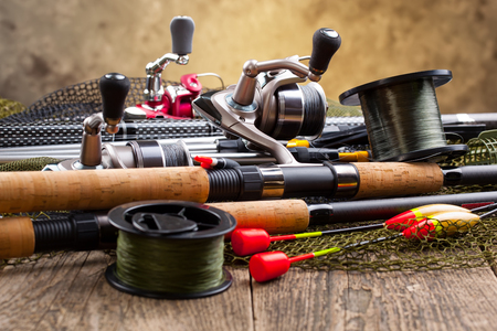 tackles: fishing tackles Stock Photo