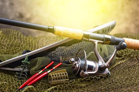 intend: fishing tackles Stock Photo