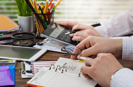 account data: business accounting Stock Photo