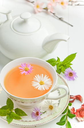 tea in a cup Stock Photo