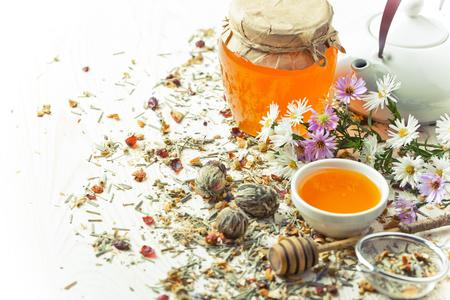Leaf, flower tea, dried Stock Photo