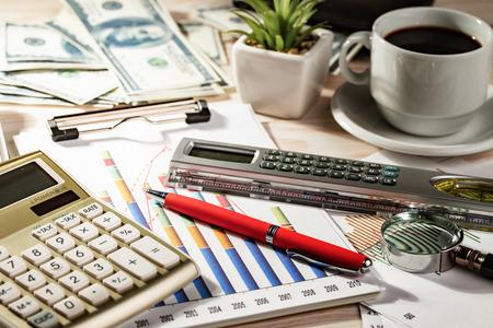 Accounting. Items Archivio Fotografico - 119624429