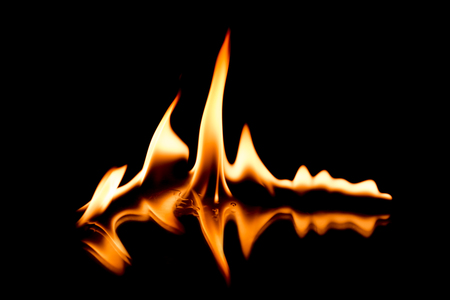 chafe: licking flames