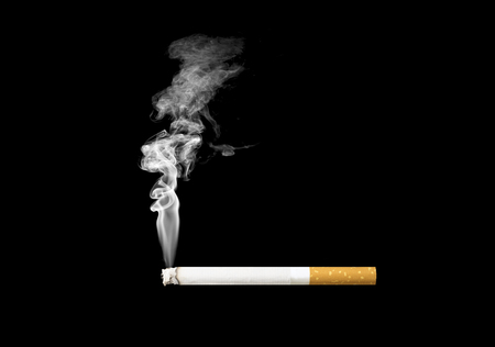 black smoke: cigarette