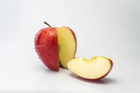 the cut: Apple cut Stock Photo