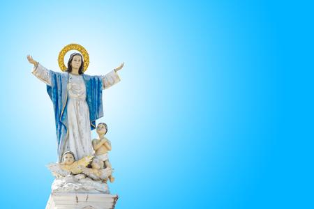 축복받은 성모 마리아의 동상 스톡 콘텐츠