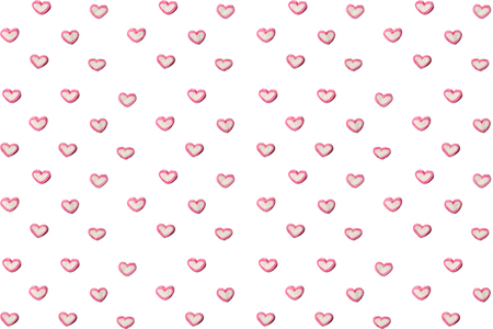 A heart made of marshmallows on a white background.