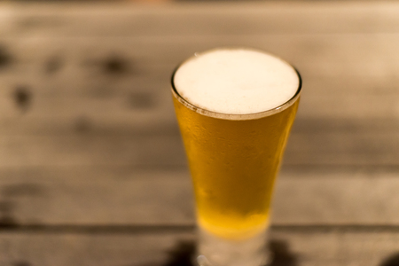 Cold Beer Glass on Table