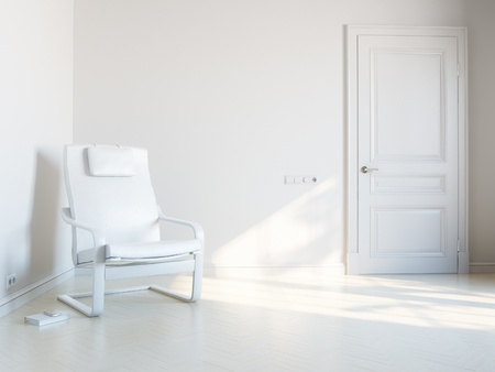 white room for relaxation photo