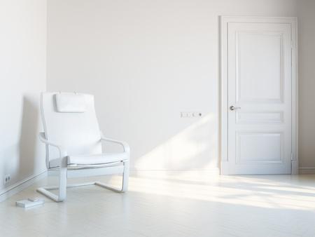 witte ruimte voor ontspanning Stockfoto