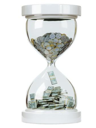 sand dollar: aumento de los ingresos en efectivo en el fondo aislado blanco