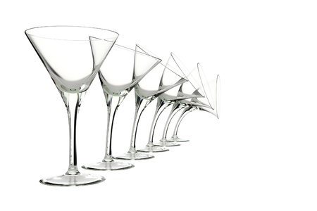merlot: glasses with different characters isolated on white