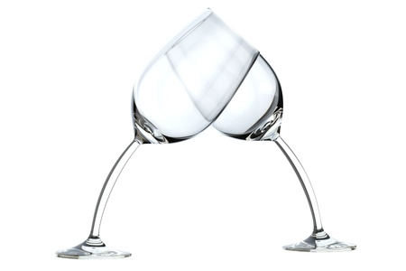 glass heart on white  photo