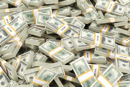 een grote stapel geld