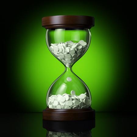 farmaceutische industrie op groene achtergrond Stockfoto