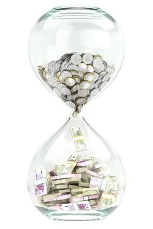 zakelijke groei en welvaart in de tijd Stockfoto