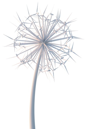 abstract mill: Dandelion from the wind generators  sunlight version   Stock Photo