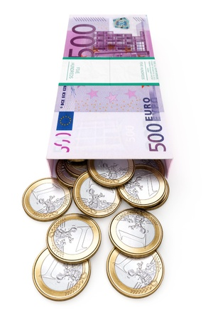 euro money box on white isolated background   front version  Stock Photo - 13535856