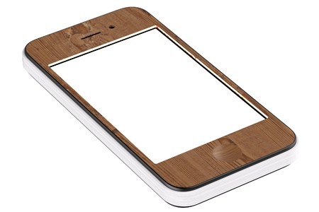 smart cell touchscreen phone stylized in paper notebook Stock Photo - 13535864
