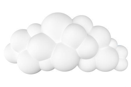 stylized cartoon cloud for site design or as icons isolated on a white  second version  photo