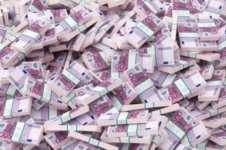 dinero euros: dinero de fondo la versión ? 500 Foto de archivo