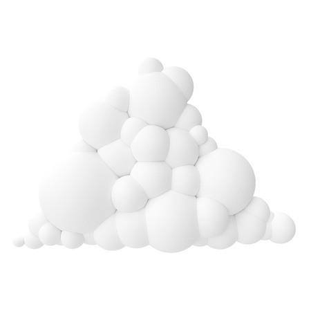 accessing: white cartoon stylized cloud isolated on white background  version 5  Stock Photo