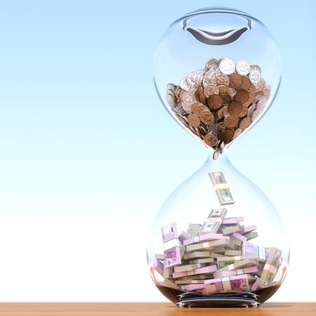 le temps est une version de l'argent avec la bonne composition