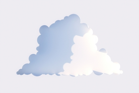 niche in the form of clouds on a white wall in the sun  second version Stock Photo - 14269074