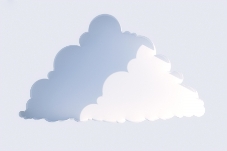 first form: niche in the form of clouds on a white wall in the sun  first version
