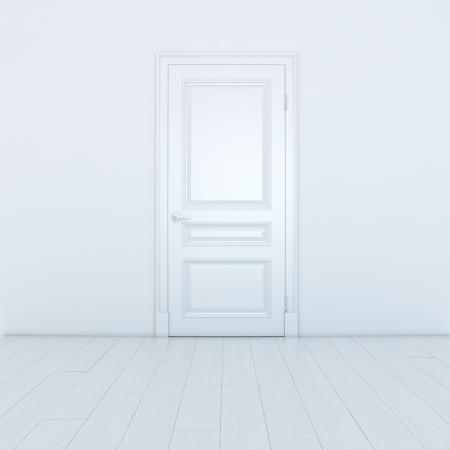 Empty White Interior With A Door Stock Photo - 16834444