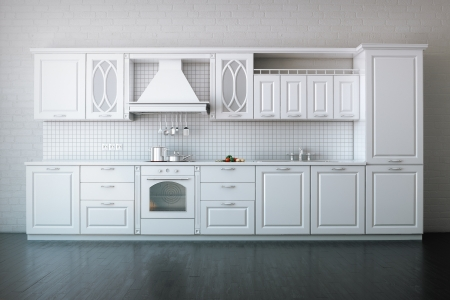 Classic Kitchen In Luxury Apartment