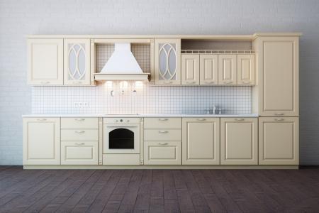 Classic Luxury Beige Kitchen Stock Photo - 17219975