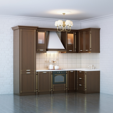Luxury Wooden Kitchen Cabinet photo