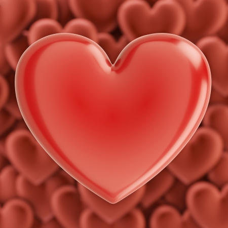 i nobody: Glossy Hearts Background For Valentines Day Greeting Card Design