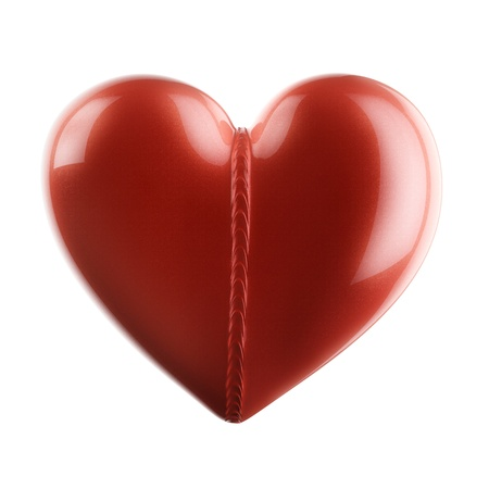 i nobody: Car-paint Heart With Weld Bead For Valentines Day Present Or Design Of Greeting Card   Isolated On White