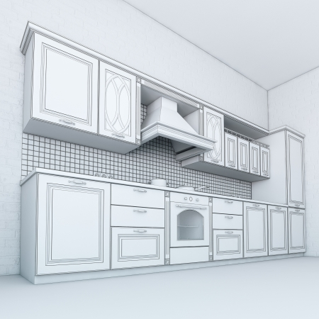 Rough Draft Of Classic Kitchen Cabinet  Third Version