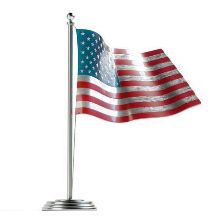version: American flag 3d illustration  first version