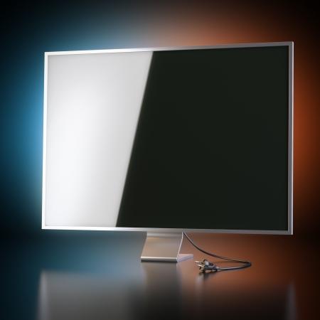 hd tv: Modern Tv Screen On Artistic Background