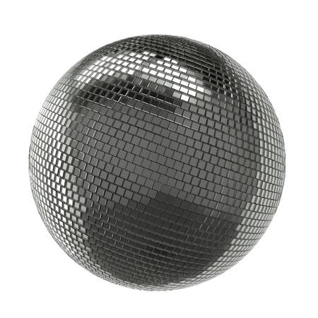 Silver Shining Disco Ball Isolated On White Background photo