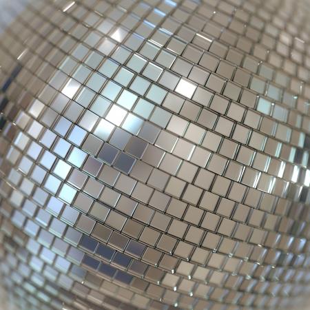 discoball: Silver Shining Disco Ball Background Stock Photo