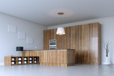 Luxury Kitchen Cabinet  Wooden Furniture Stock Photo - 20522674