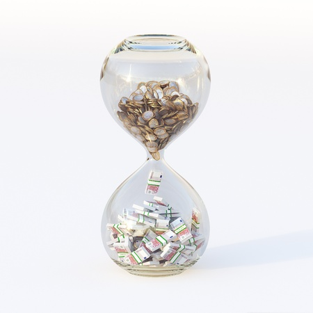 Euro Money In Hourglass  Conceptual Picture Of Successful Business  Forth Version