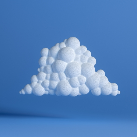 White Cloud On Blue Background  Network Icon  Fourth Version photo