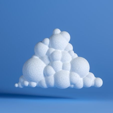 White Cloud On Blue Background  Network Icon  Third Version photo