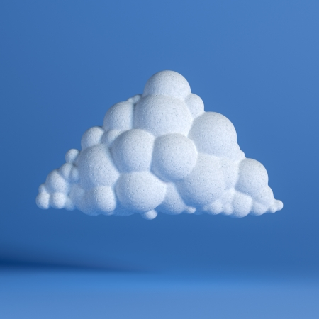 White Cloud On Blue Background  Network Icon  First Version photo